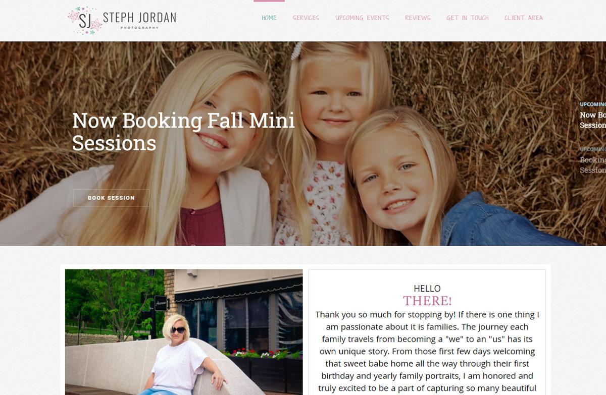 Photography Website Design for Steph Jordan Photography